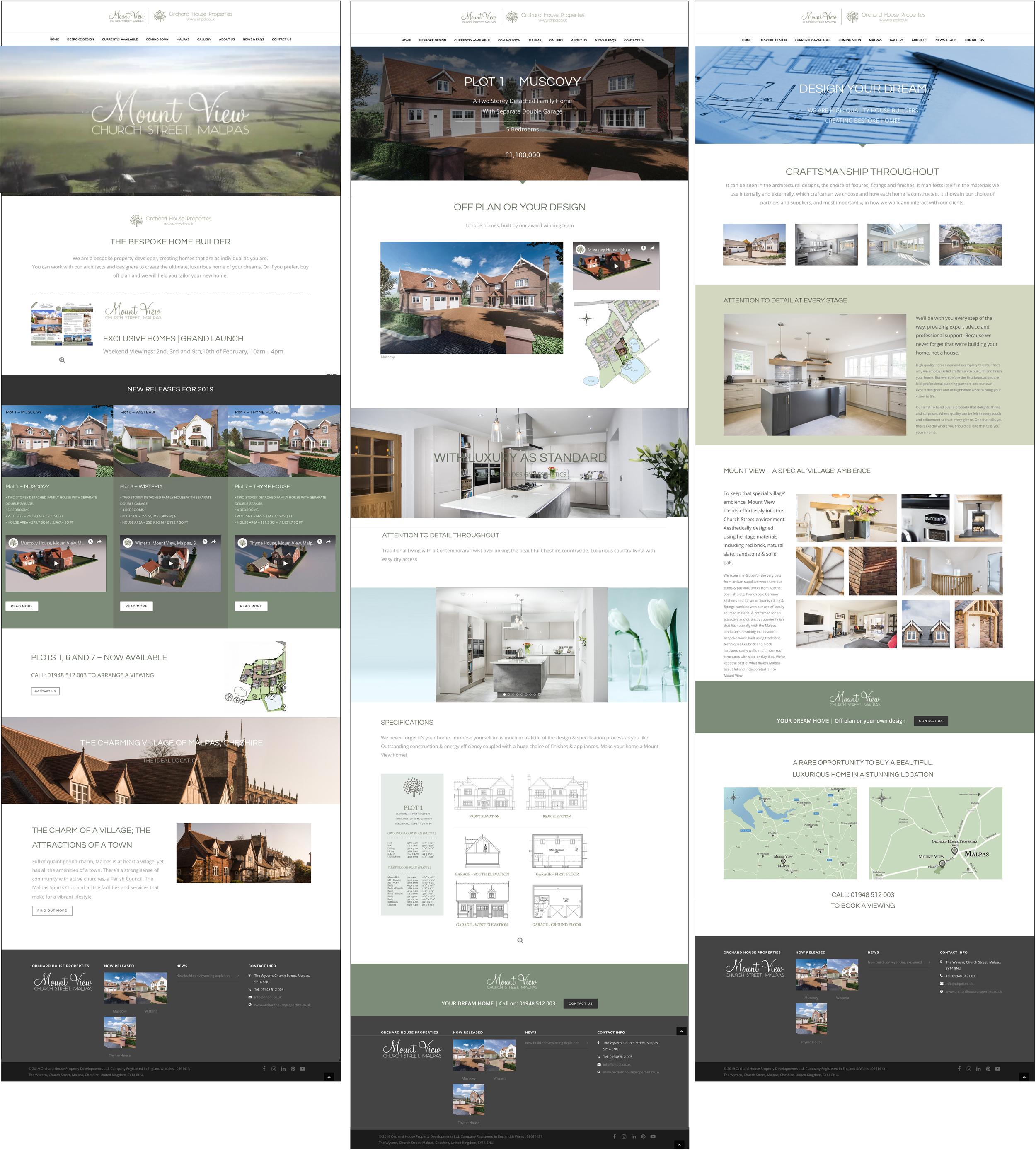 website for new housing development, graphic design for building company, web design new build development, liverpool, cheshire,